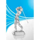 Resin-Pokal Golf Mann - 25cm hoch